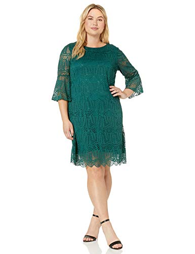 Sharagano Women's Plus Size Lily lace Dress, Bent Creek, 20W
