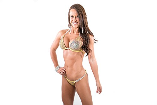Vicky Ross Fit Royal Volcano Crystal Competition Bikini Suit NPC IFBB OCB S