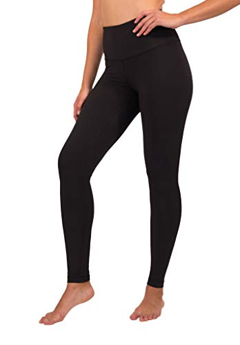 90 Degree By Reflex High Waist Squat Proof Interlink Leggings for Women – Black – Medium