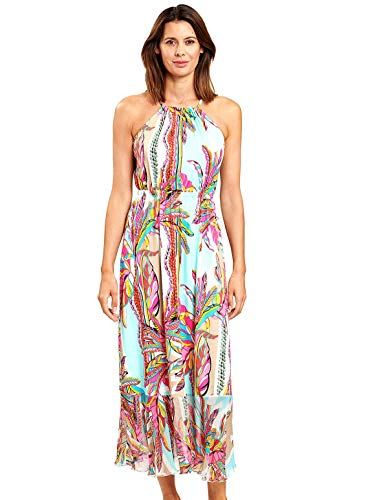 Feraud 3205081-16576 Women's Blue Ethno Feather Beach Dress 16