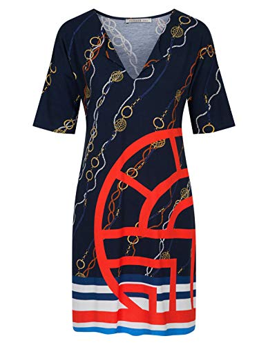 Feraud 3205072-16574 Women's Yachting Blue Beach Dress 12