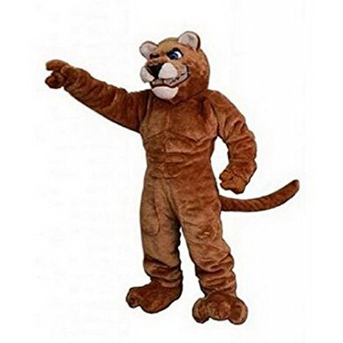 Langteng Power Cat Cougar Mascot Costume Character Adult Sz Real Picture Cartoon