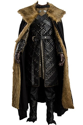 Cosplaysky Game of Thrones Season 7 Jon Snow Armor Halloween Costume Outfit Small