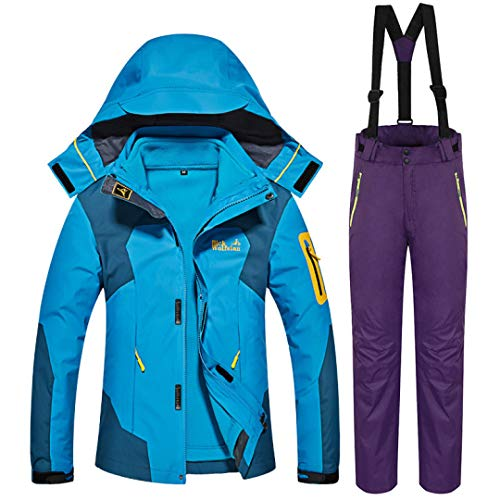 Supper Warm Ski Suit Women Skiing Jacket and Pants Snow Snowboard Jacket Outdoor Waterproof Winter Set