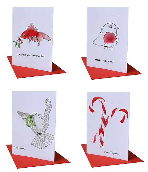 Blank Inside Design Christmas Cards Pretty Paper Things