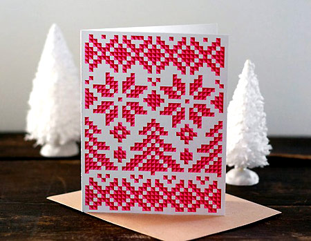 Alpine Sweater Motif Holiday Card
