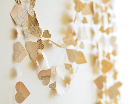 Paper Heart Garland - Couture by Ayca