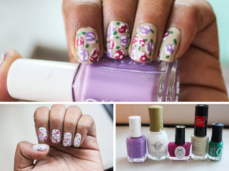 Floral Nail Art | | Milk & Cardamom