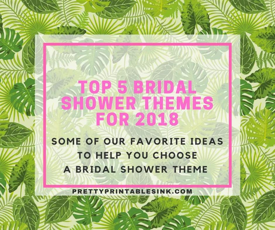 Tropical Bridal Shower Invitations