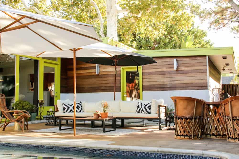 mid century modern patio reveal