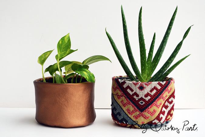 diy fabric plant pots