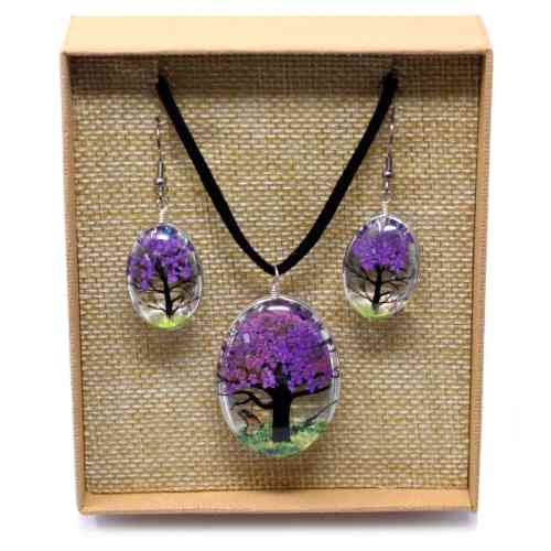 pressed lavender necklace set_1