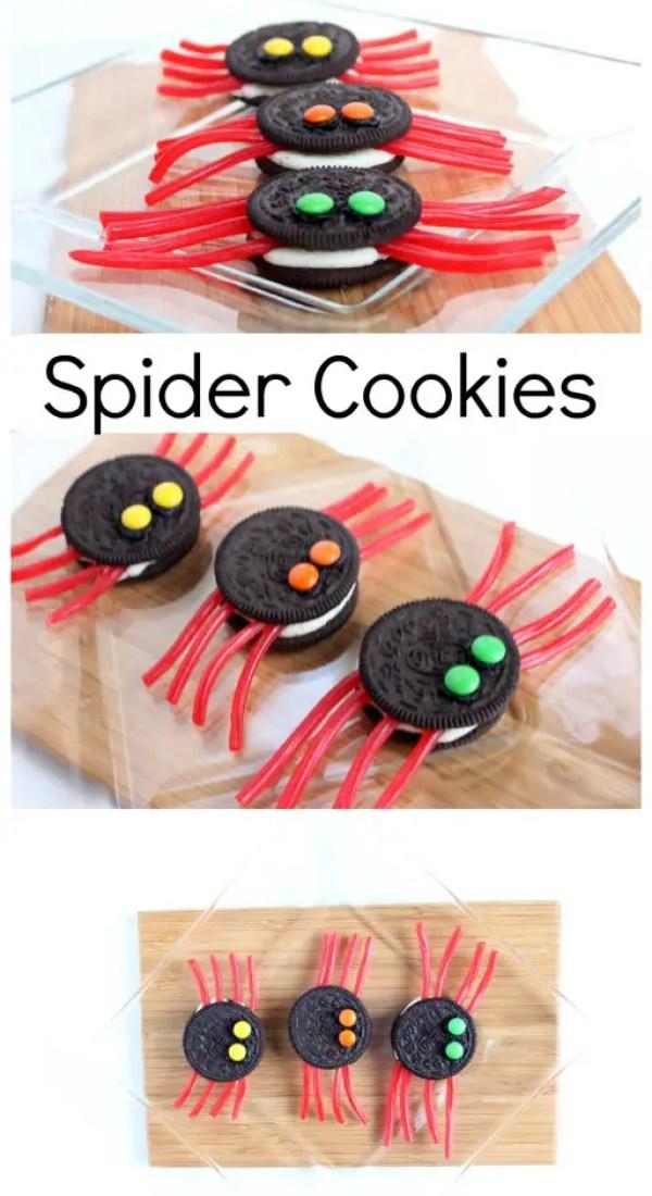Spider Cookies Halloween Finger Food