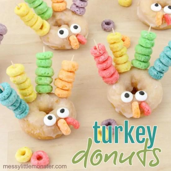 kids thanksgiving party ideas turkey donuts
