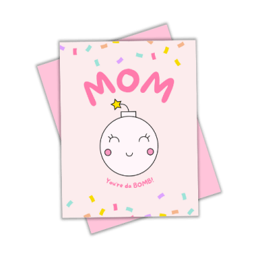 mothers day card flatlay