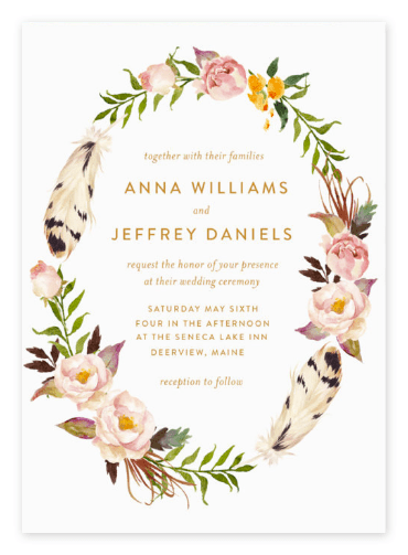 Watercolor Boho Wedding Invitations Inspiration