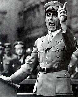 Joseph Goebbels: top propagandist of Nazi Germany