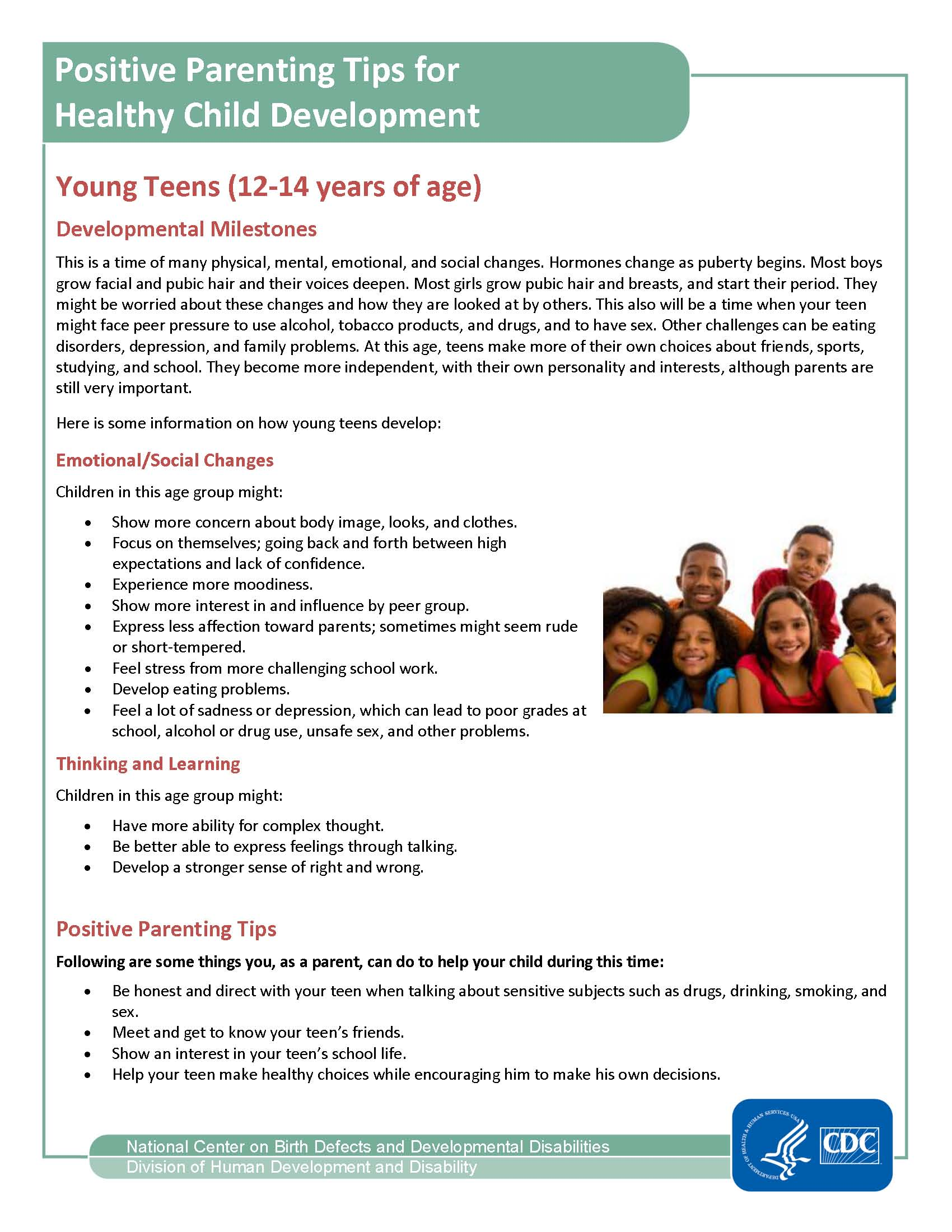 Website Positive Parenting Tips For Young Teens 12 14 Page