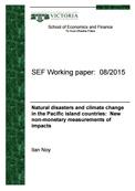 Los desastres naturales y el cambio climático en los países insulares del Pacífico: Nueva mediciones no monetarios de impactos
