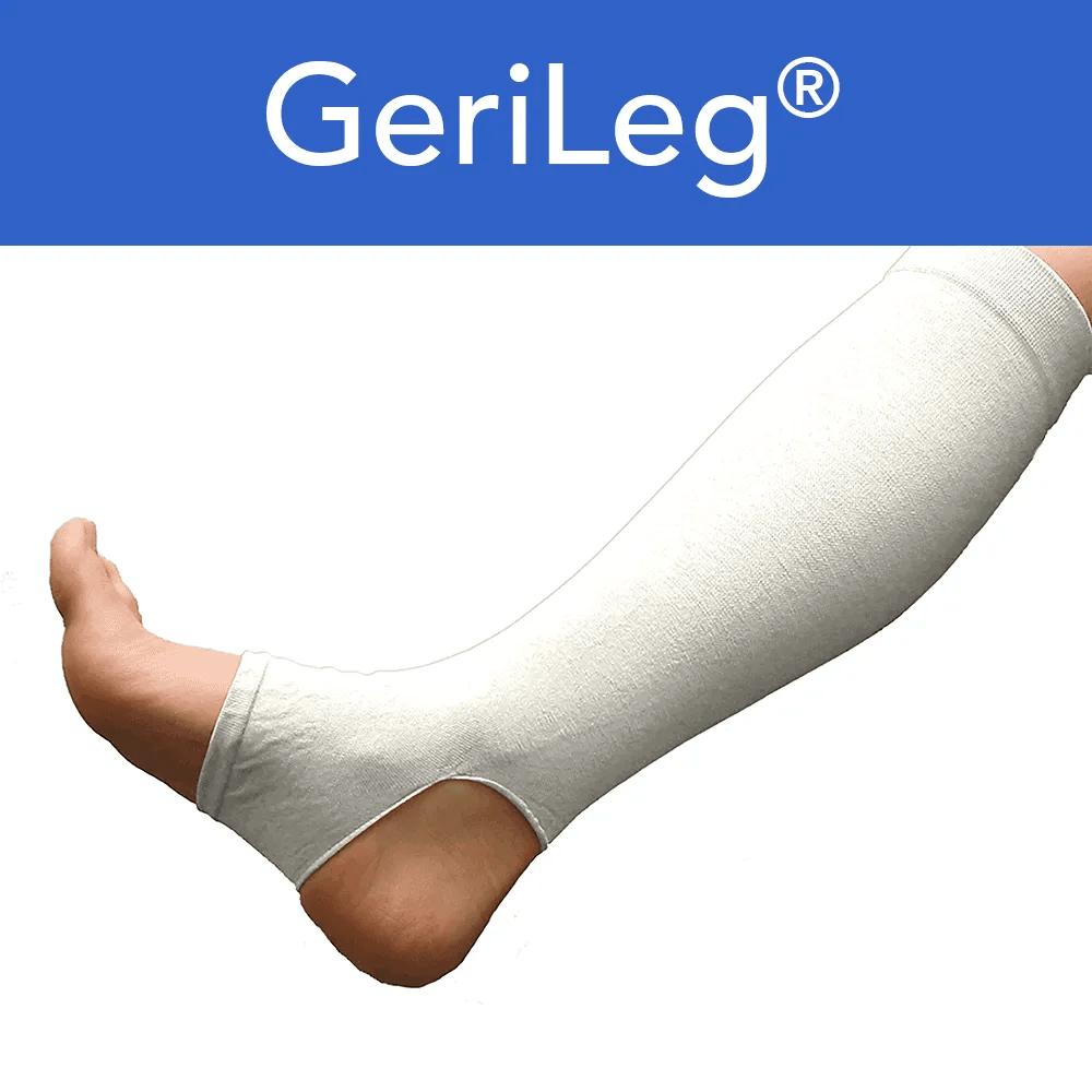 White Leg Gerisleeve To Prevent Skin Tears