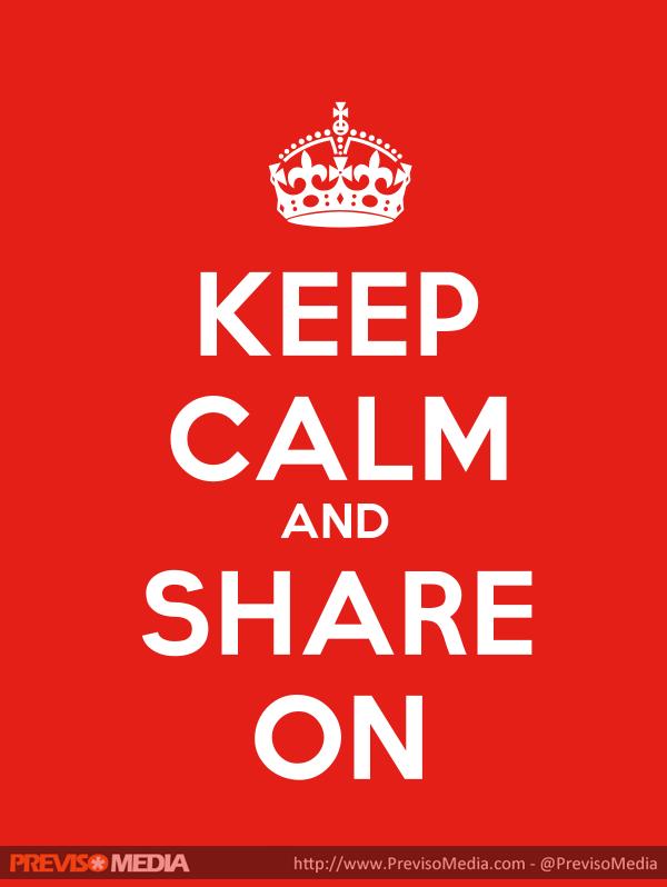 keep calm and share on