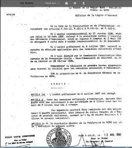 PREFECTURE DU NORD Arrêté du 12 avril 1990 article 2