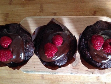 Gluten Free Chocolate and Raspberry Muffins