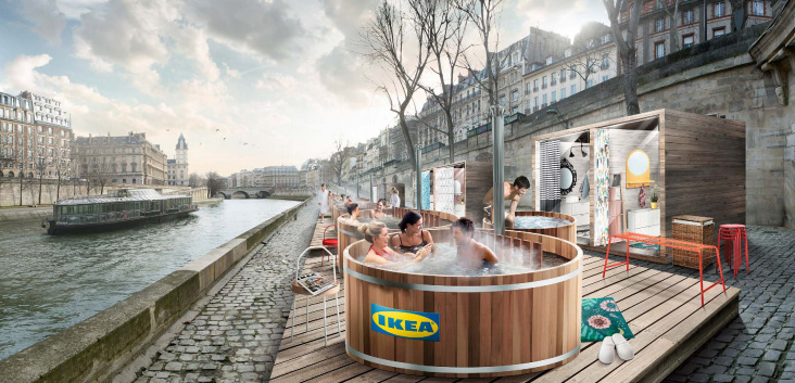 Ikea France To Install Nordic Hot Tubs Along The Banks Of