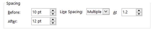 Para Line Spacing