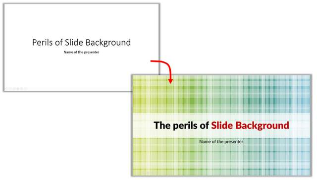 Plain Slide Vs Slide With Background