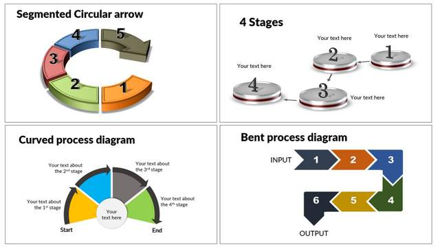 Creative Process Diagrams in PowerPoint