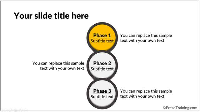 Example of Creative Slide Layout Growth Phases 2