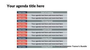 Detailed Meeting Schedule PowerPoint