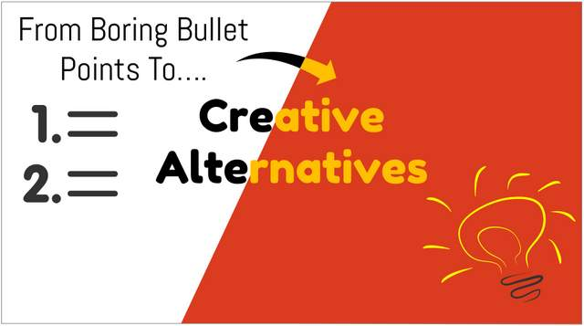 Creative Bullet Point Slide Ideas