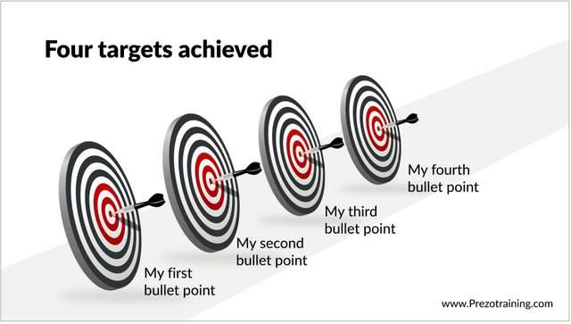 3D Target Graphics PowerPoint
