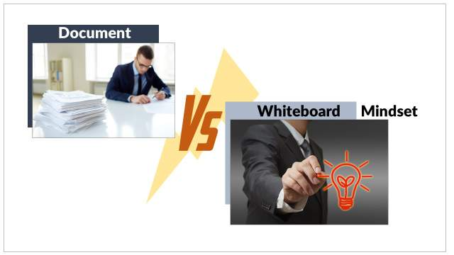 Are you in a Document mindset or Whiteboard mindset?