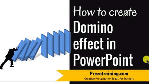 PowerPoint Graphic Design Ideas 3 – Domino Effect