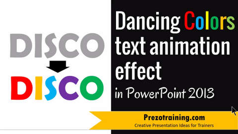How to  Create Dancing Colors Text Animation Effect in PowerPoint