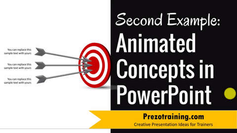 Animated Concept in PowerPoint Showing Target ( Part 2 of 3)