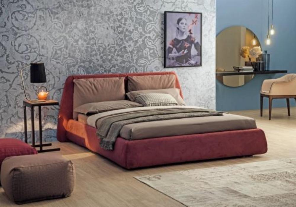 Arredare camera da letto - Toeletta formata da una mensola in legno con specchiera rotonda color bronzo, la console/toeletta Sunset