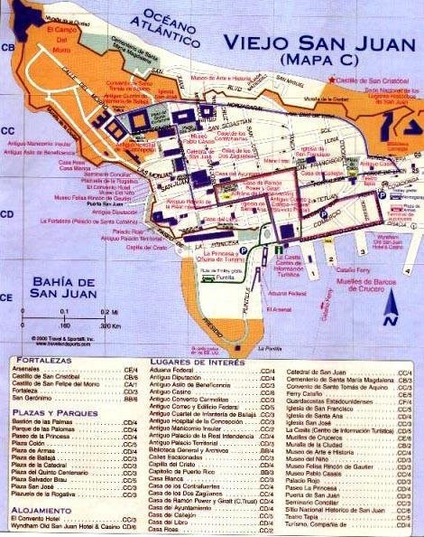 El Nacional Cordillera Yunque Map Rico La Puerto Parque Central El