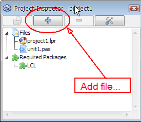 Add file to project