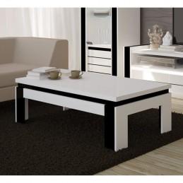 table basse design lina blanche et noire brillante meuble ideal pour votre salon