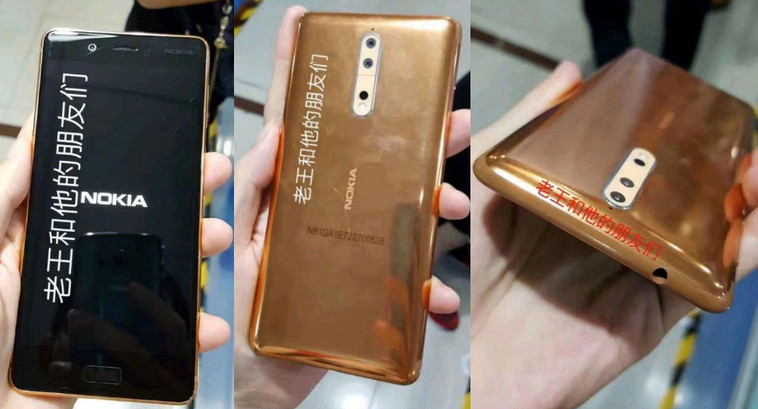 Nokia 8 Gold Copper Color Images