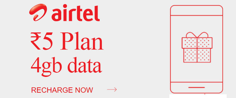 Airtel Is Providing 4GB Of 3G/4G Data For 7 Days At Rs 5 Only (See How)