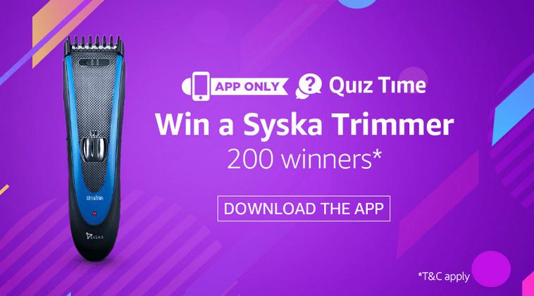 Amazon Syska Quiz Answers Today: Participate & Win A Trimmer