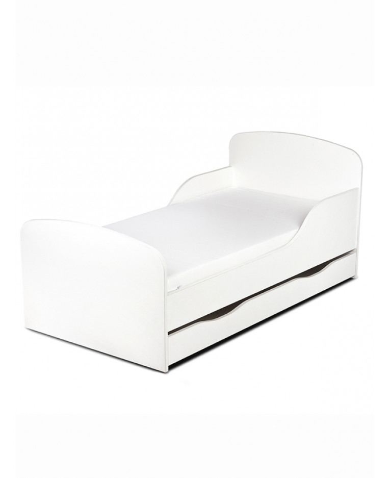 White Toddler Bed Storage