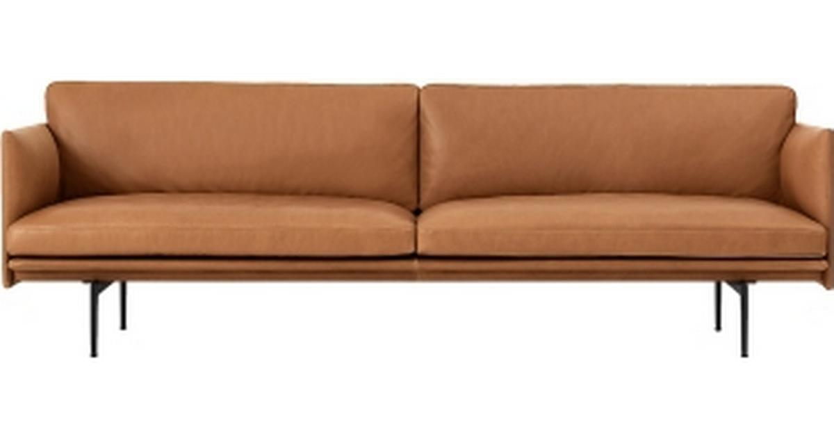 Muuto Outline Leather Laedersofa 3 Pers Se Priser 6 Butikker