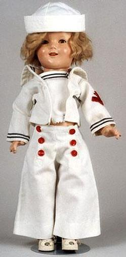 Shirley Temple Doll Ideal Composition Sailors Outfit