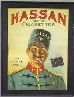 Advertising Tobacco Hassan Cigarettes Print Cork Tip